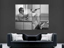 Steve mcqueen légende Gun Film TV classique Cult Movie Poster Mural Art Grand
