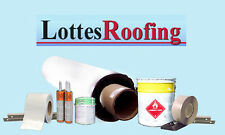 WHITE TPO Rubber Roofing Kit COMPLETE - 10,000 sq.ft BY THE LOTTES COMPANIES