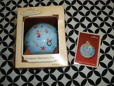 Collectible Hallmark Ornament, 2003~Glass Ball Celebrate Decorate, Enjoy *T1601