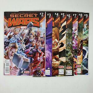 Secret Wars Issue 2 3 4 5 6 7 8 Bundle Lot Marvel Comics 2015 Near Complete Run