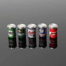 1:12 Dollhouse Miniature Mini 5X Assorted Beer Cans Food&Groceries Bar Be Gift