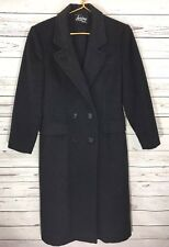 Men's Vintage Loring Worsted Dark Grey Wool & Cashmere Blend Trench Coat Classic