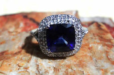 Velvet Bleu by EFFY Manufactured Diffused Sapphire and Diamond Ring Size 4.5