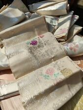 More details for job lot of new vintage irish damask tablecloths and napkins old bleach