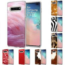 Thin Gel Design Protective Phone Case Cover for Samsung Galaxy S10 5G,Pink Print