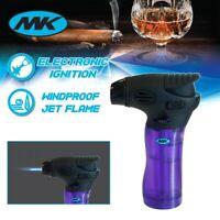 MK Lighter Jet Torch Adjustable Flame Windproof Safety Lock Refillable Purple
