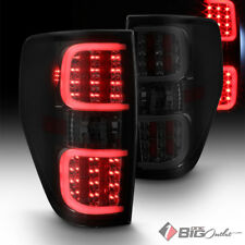 For 09-14 F-150 Smoked Lens DRL-Light-Bar LED Tail Lights w/ LED Signal