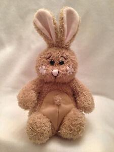 "POT BELLY Squishy 9"" Bunny Rabbit Stuffed Plush Beans Animal First & Main"