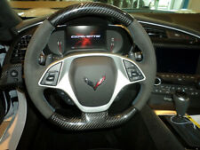 C7 Stingray Z06 Grand Sport Corvette Steering Wheel Suede Blue Stitching AUTO