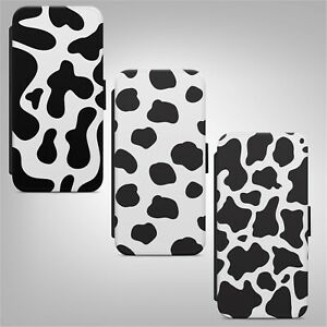 Cow Skin Print Pattern Animal FLIP PHONE CASE COVER for IPHONE SAMSUNG HUAWEI