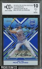 2016 Elite Extra Pete Alonso Rookie RC Blue #/50 Auto BCCG 10 Mets