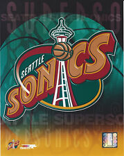 SEATTLE SONICS SUPERSONICS LOGO 8 X 10 PHOTO WITH ULTRA PRO TOPLOADER