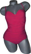 NWT OSCAR De La RENTA swimsuit M $650 formed cups ruched gathered tank stunning