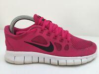 Nike Free 5.0 Pink Mesh Knit Gym Running Sports Trainers Women Size UK 5 Eur 38