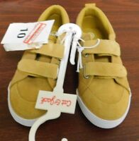 Cat And Jack Toddler Boys Diedre Bump Suede Shoes Yellow Multiple Sizes, NEW