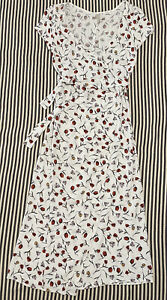 Bec & Bridge Florabelle Midi Wrap Dress White Floral Size 8