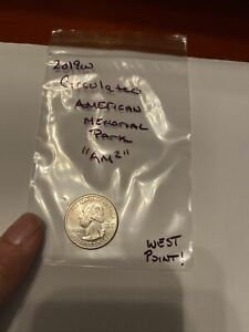 "2019 W West Point Marianas Island American Memorial Quarter Circulated ""am2"" AMP"