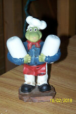 "6"" Ceramic Frog Chef Salt and Pepper Shakers"