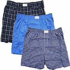 048655f55d9 Tommy Hilfiger Mens 3-Pack Cotton Woven Boxer Multi Blue