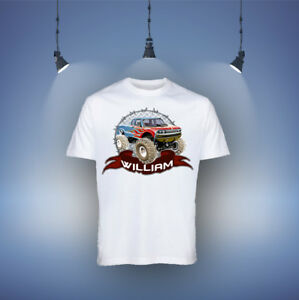 Monster Truck Boys Kids T-shirt Personalised Name