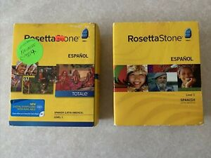 Rosetta Stone Espanol TOTALE Spanish (Latin America) Level 1 Version 3&4