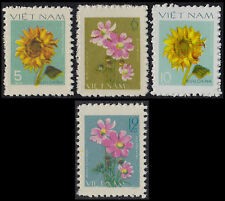 Rep Socialiste VIETNAM N°110/113** Fleurs 1977-78 Vietnam Sc#892-895 Flowers MNH