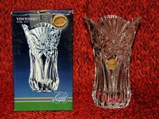 Vintage Vincennes Cut Lead Crystal Vase Cristal d'Arques France ~ Original Box