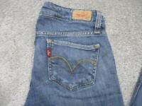 WOMENS LEVI 524 SIZE 7 TOO SUPERLOW SKINNY STRETCH JEANS / REF A18 649