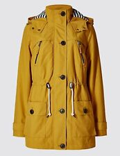 M&s Cotton Rich Anorak With Stormwear Ochre Size UK 12 Dh089 LL 09