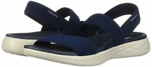 Woman Skechers On The go 600 Flawless Sandal 15312 Color Navy 100% Brand New