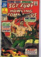 Sgt Fury and His Howling Commandos Special #3 ORIGINAL 1967 Marvel Comics