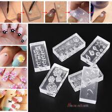 6X 3D Silicone Nail DIY Art Decortive Acrylic Cabochon Multiple Design Mold Kits