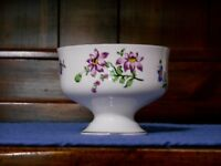Royal Victoria Dessert Cup Fine Bone China England with Purple Flowers