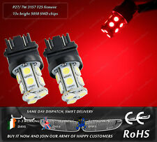 LED SMD T25 3157 P27 7W Xenon Red Rear Tail Stop Brake Lights Car Bulbs 12V