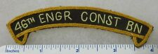 46th ENGINEERS Hand Sewn U.S. ARMY SHOULDER TAB PATCH for VETERANS & COLLECTORS