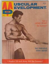 Muscular Development STEVE REEVES Bodybuilding Muscle Magazine 4-68