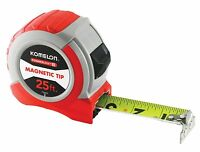 Komelon 73425 Powerblade II Tape Measure, Small, Red/Grey