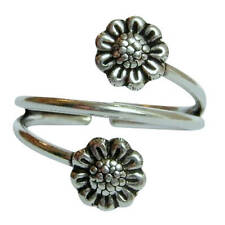 Sterling Silver (925) Adjustable Flowers Toe Ring ! Brand New !