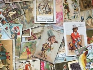 Lot de 140 images publicitaires ou chromos anciens