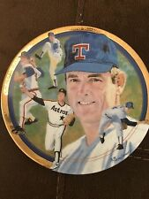 "1993 Nolan Ryan The Strikeout Express Hamilton Collection 6"" in Plate MLB"
