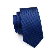 IVAN TROY Blue Italian Silk Ties Set With Handkerchief Cufflinks