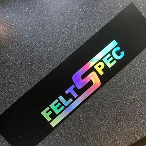 FELT SPEC SUNSTRIP Matte Black / Oil Slick Chrome - Fit Any Car