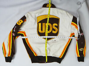 UPS nascar jacket small Dale Jarrett racing patch united parcel service vintage