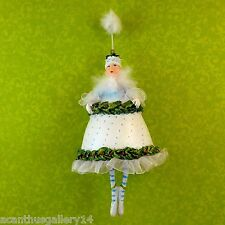 Krinkles Fairy Holly Floral Ornament Patience Brewster Dept 56 Retired Xmas Nib
