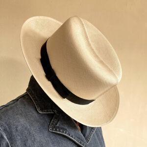 POLO by RALPH LAUREN Vtg 80's Genuine Panama Hat Hand Woven Fine Straw England