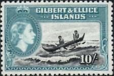 Gilbert & Ellice Islands 1956 QEII 10/- Black & Turquoise  SG.75 Mint MNH