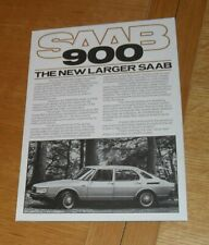 Saab 900 Brochure Poster 1978-1979 - Turbo GLE GLS EMS