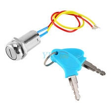 2 Wire&Key Ignition Switch Key Lock For Electric Scooter ATV Moped Kart Bike GLF