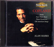 Alan MARKS COPLAND Rodeo Four Piano Blue Variations Old American Songs NIMBUS CD