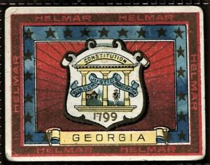 Helmar Cigarettes, STATE SEALS & NATIONAL COATS OF ARMS, T107, 1910, Georgia